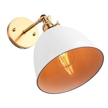 Onever Vintage Bowl Applique Murale Sconce Bell Shape Loft Lampe E27