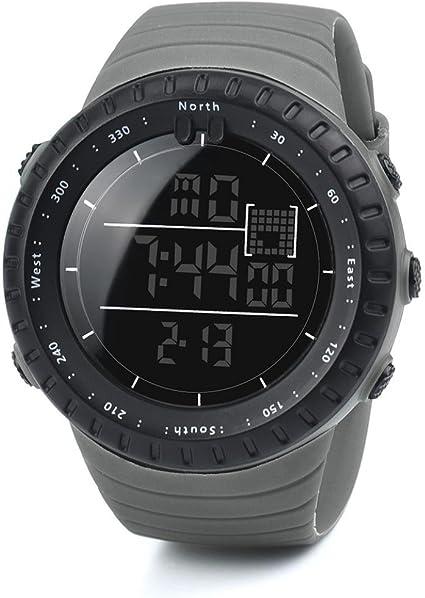 Logobeing Digital Reloj Deportivo, Reloj Militar Hombre Cuarzo España Negro Ejército Digital de Los Deportes Moda (Negro): Amazon.es: Deportes y aire libre