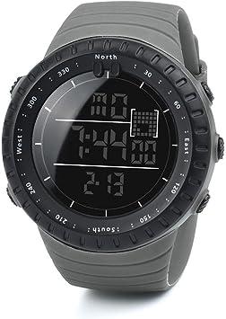 Logobeing Digital Reloj Deportivo, Reloj Militar Hombre Cuarzo España Negro Ejército Digital de Los Deportes Moda (Gris): Amazon.es: Deportes y aire libre