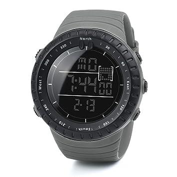Digital Reloj Deportivo, Logobeing Reloj Militar Hombre Cuarzo España Negro Ejército Digital de Los Deportes Moda (Gris): Amazon.es: Deportes y aire libre