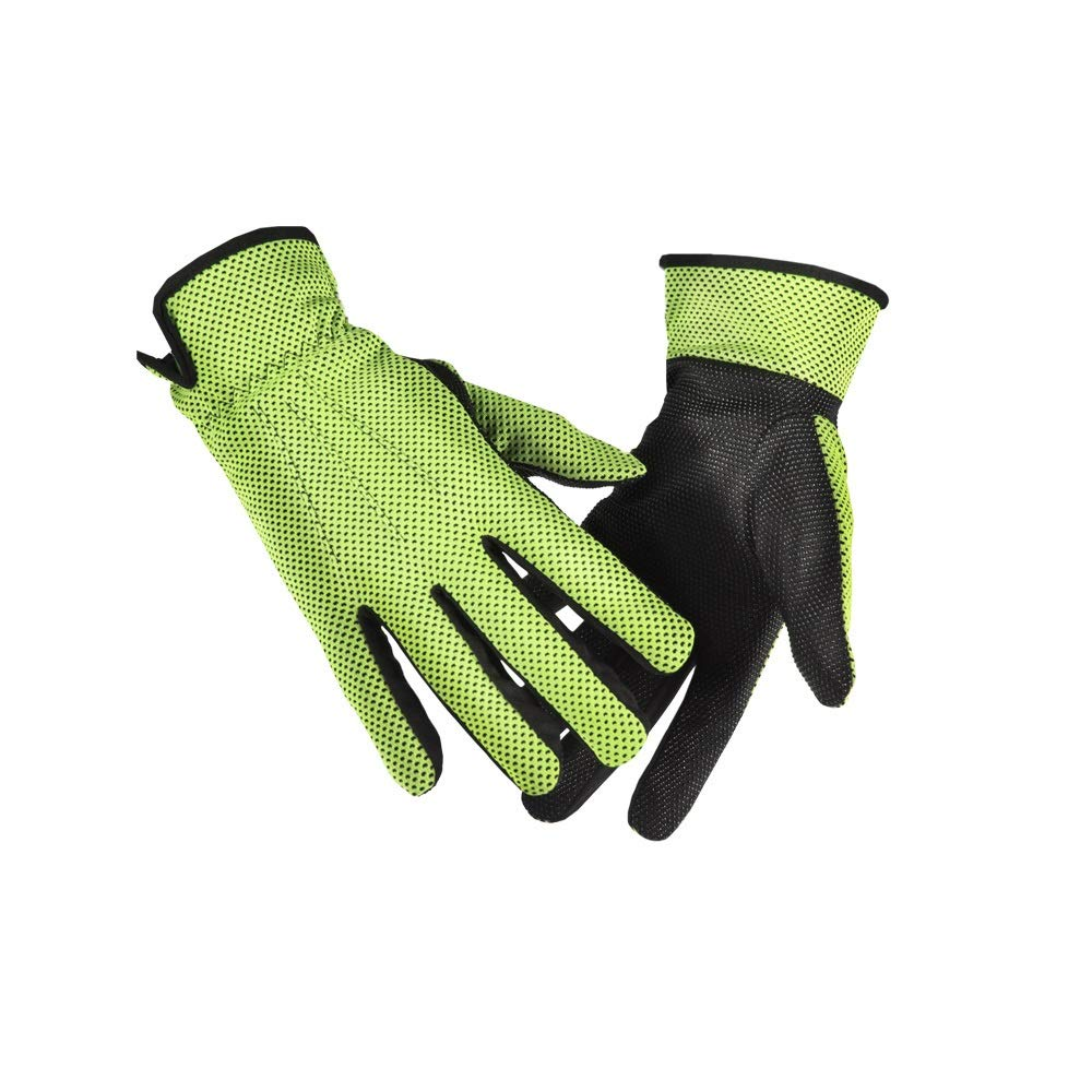Comfortable Sun Protection Sun Protection Gloves UV Protection UPF50+ Breathable Wicking Sun Protection Gloves Durable (Color : Green, Size : L-Five Pairs)