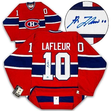 guerra Pulido Minúsculo  Guy Lafleur Signed Jersey - Adidas Vintage - Autographed NHL ...