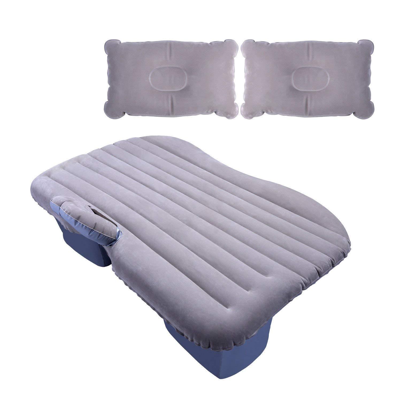 Auto-Matratze Aufblasbare Travel Air Bed Kissen Camping Mit 2 Kissen Grau