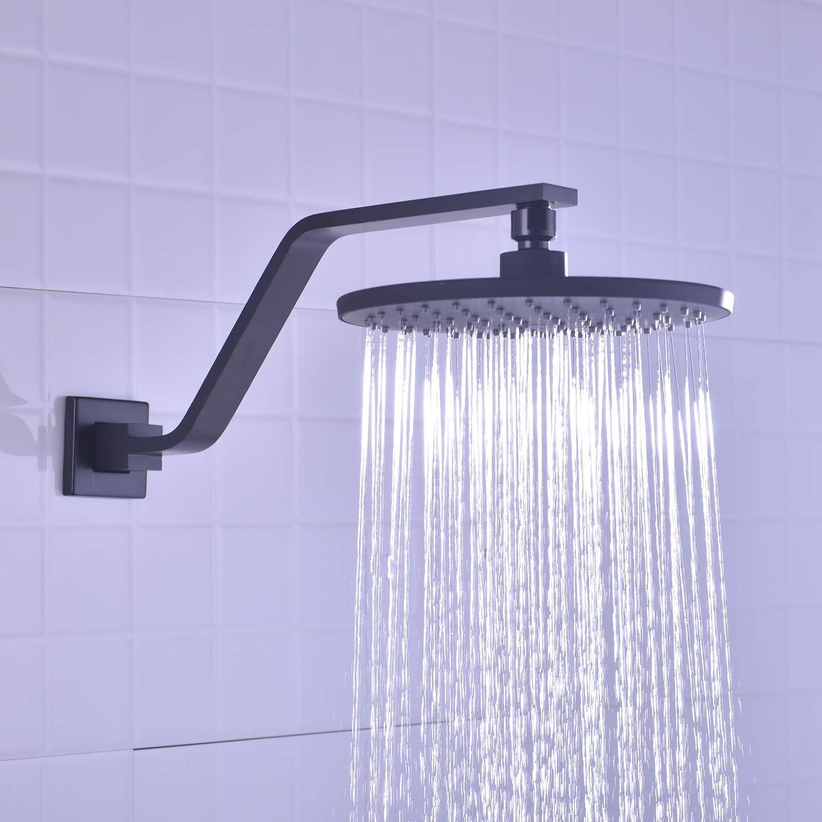 12 Inch Shower Arm And Flange Aqua Elegante Chrome