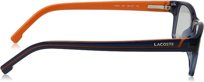 Lacoste Herren L2707 421 53 Brillengestelle Blau Blue Steel//Orange