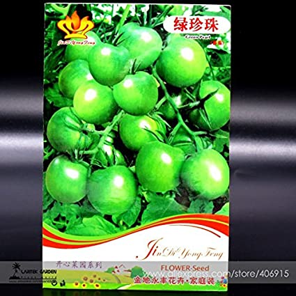 Amazon.com : New Heirloom \'Da Tong\' Green Pearl Cherry Tomato ...