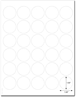 Amazon 1 14 white round dot labels for laserinkjet waterproof white matte 15 inch diameter circle labels for laser printer with template and printing instructions saigontimesfo