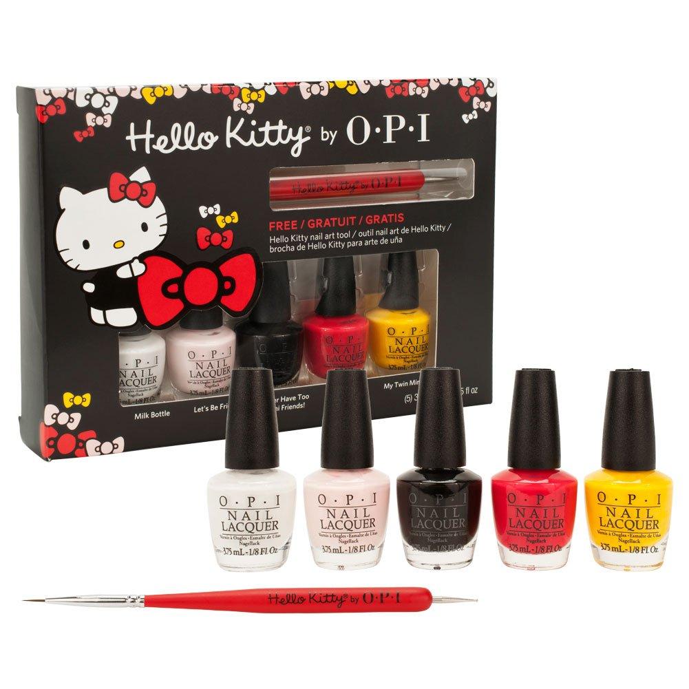 Opi hello kitty nail lacquer collection 5 mini set 125 fl oz opi hello kitty nail lacquer collection 5 mini set 125 fl oz nail art tool amazon beauty prinsesfo Images