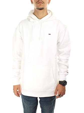 fa162b97825 Tommy Hilfiger DM0DM04468100 Sweat-Shirts Homme Blanc L  Amazon.fr ...
