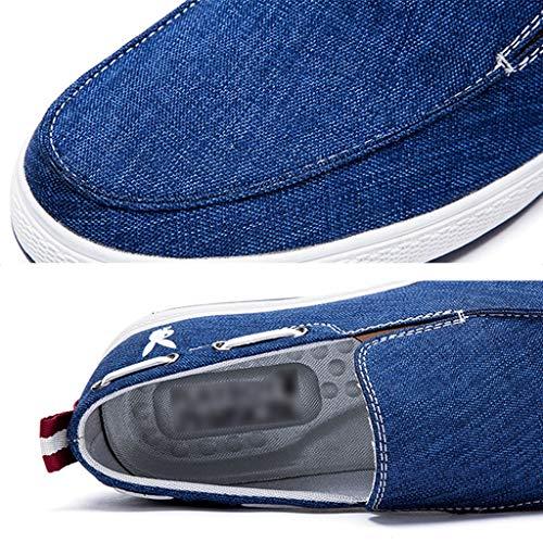 selvaggia di tela Color uomo denim scarpe da scarpe scarpe di Size da tela Blue casual WangKuanHome tendenza Blue Scarpe estiva uomo 42 z8Cx0T