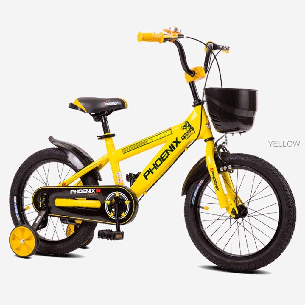 子供の自転車子供のペダル自転車の男の子の赤ちゃん2-10歳の女の子の赤ん坊の運送 (色 : イエロー いえろ゜, サイズ さいず : 14 inches) B07D3RY4KJイエロー いえろ゜ 14 inches