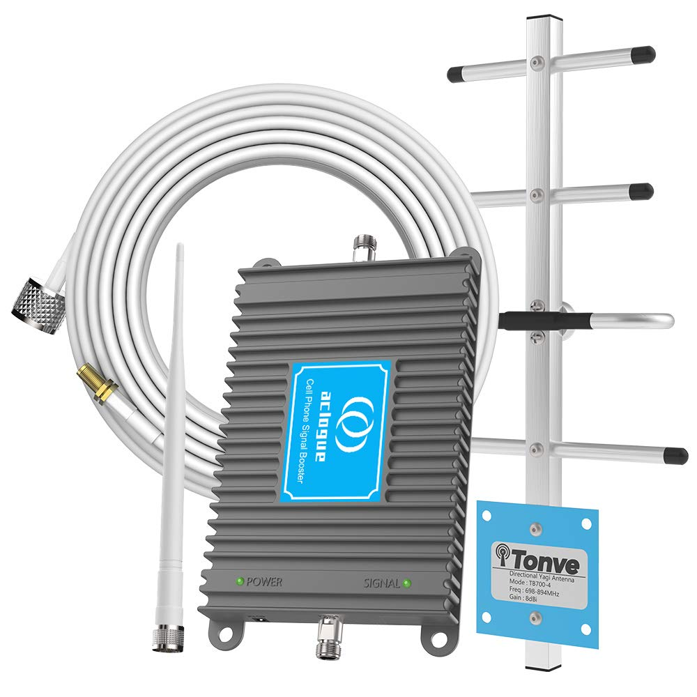 Cell Phone Signal Booster for Verizon 4G LTE 700MHz Band 13 FDD Home Mobile Signal Repeater Amplifier Antenna Kits,Improves 4G LTE Data Rates and Supports Voice Over LTE by aclogue