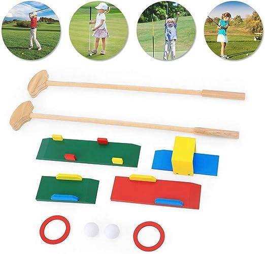 Tawcal Club de Golf para Niños, Juego de Palos de Golf de Madera ...