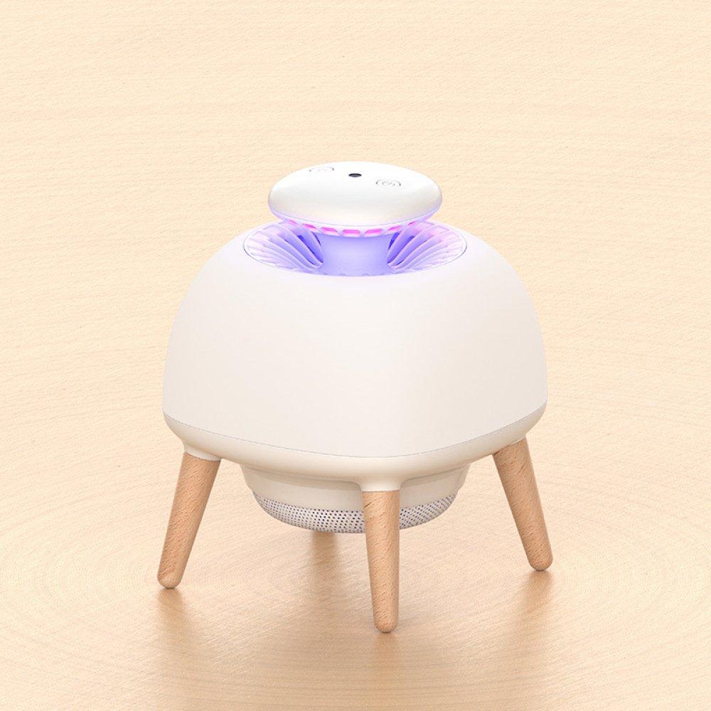 SLR La Lámpara casera de Mosquito del USB casera Lámpara llevó la Trampa de Mosquito electrónica 4W del Mosquito del Mosquito del Control de la luz Interior Repelente,Blanco,Un Tamaño 64a7de