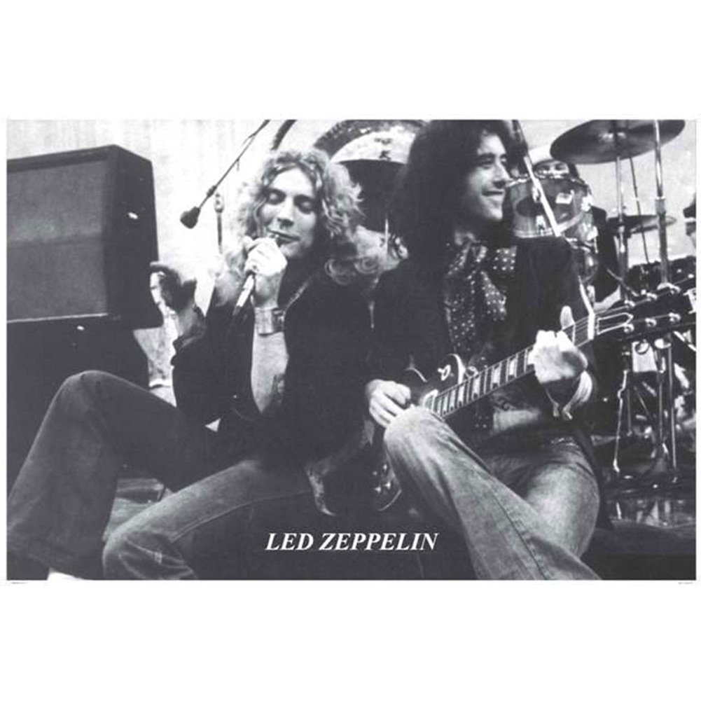Amazon com led zeppelin plant and page sitting 24x36 standard wall art poster posters prints