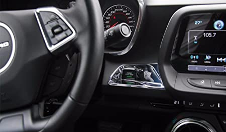 Highitem Newest Engine Start Stop Button Trim Cover Interior Styling Accessories ABS for Chevrolet Camaro 2016 Up Blue