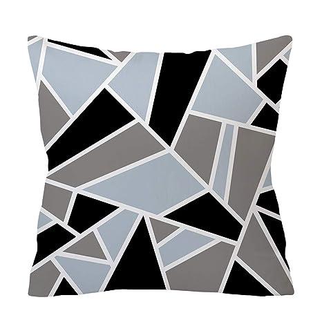 SO-buts - Funda de cojín para sofá, diseño geométrico, Color ...