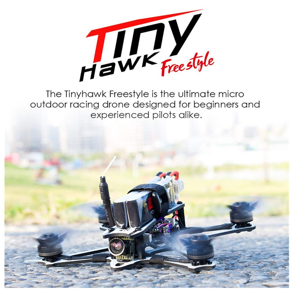 HHoo Freestyle 115mm 2.5 Inch F4 5A ESC FPV Racing RC Drone BNF Version, Quadcopter with 2PCS Battery Best Gifts for Kids Boys Men Children Christmas Halloween Thanksgiving Surprise by HHoo