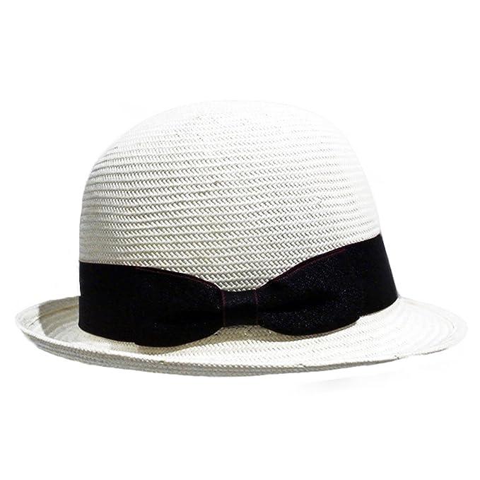Sombreros Bombín Paja Mujer Chicas Verano Classic Sombrero de Sol   Amazon.es  Ropa y accesorios 2fd7af4477b