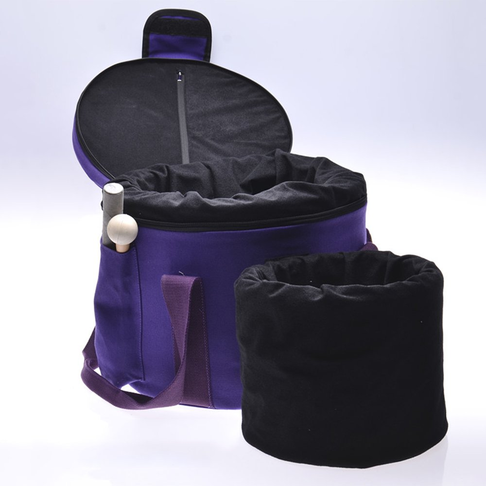 Purple Color Padded Carrying Cases for Crystal Singing Bowl - putting 8'' and 10'' singing bowls, mallets not included