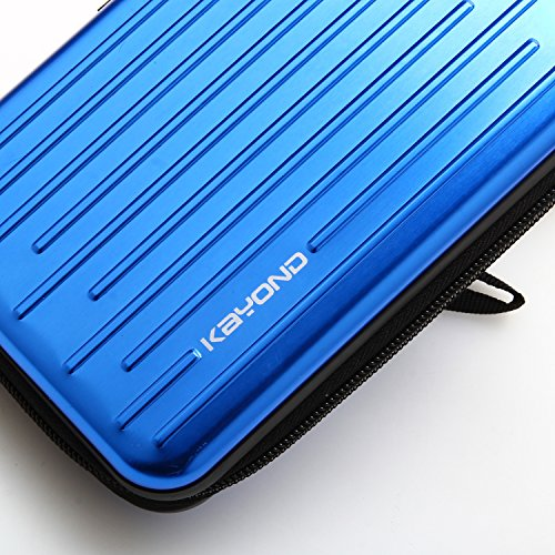 KAYOND Anti-shock Silver Aluminium Carry Travel Protective Storage Case Bag for 2.5'' Inch Portable External Hard Drive HDD USB 2.0/3.0 (blue) by KAYOND (Image #3)