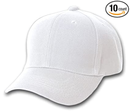 b8a92d33f24 Image Unavailable. Image not available for. Color  10 Pack Lot Plain  Baseball Cap ...