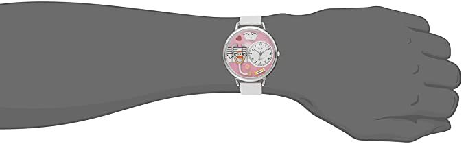 Amazon.com: Whimsical Watches Unisex US0620047 Nurse Analog Display Japanese Quartz White Watch: Watches