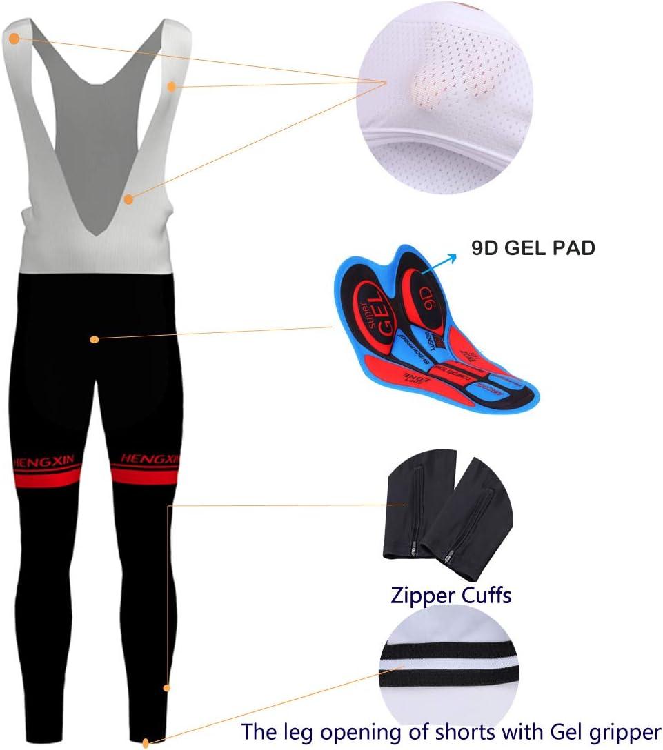 Hengxin Homme Maillots de Cyclisme V/élo VTT V/êtements Veste Manches Longues Courtes Pantalons S/échage Respirant Automne Hiver Printemps
