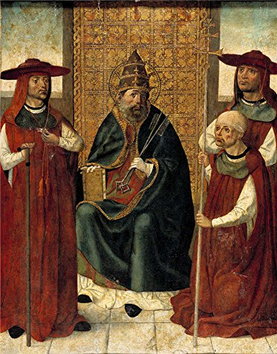 Famous Trio Costume Ideas (The Polyster Canvas Of Oil Painting 'Anonymous El Cardenal Don Pedro De Mendoza Orando Ante San Pedro 1490 95 ' ,size: 8 X 10 Inch / 20 X 26 Cm ,this Imitations Art DecorativeCanvas Prints Is Fit For Garage Gallery Art And Home Gallery Art And Gifts)
