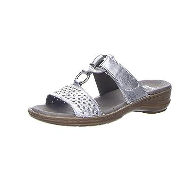 the best attitude top design autumn shoes ARA Damen Pantoletten Hawaii glossycalf Silber 37231-06 grau ...