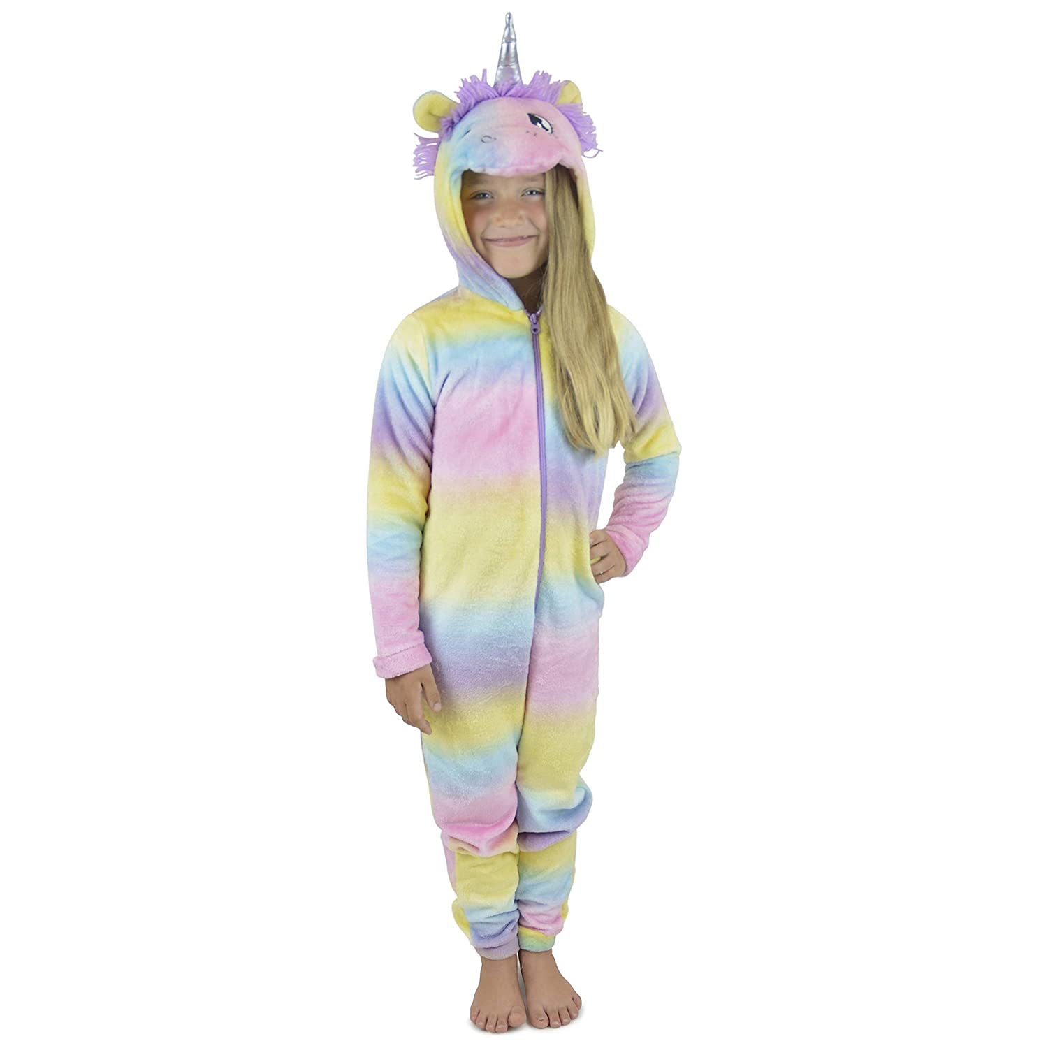 Childrens Novelty Multicoloured Unicorn Onesie
