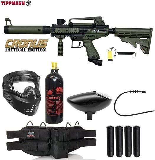 Maddog Tippmann Cronus Tactical Silver Paintball Gun Package