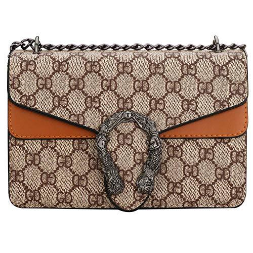 (Fashion Crossbody Bag Wedding Party Handbag Classic Clutch for Women Girls (Orange))