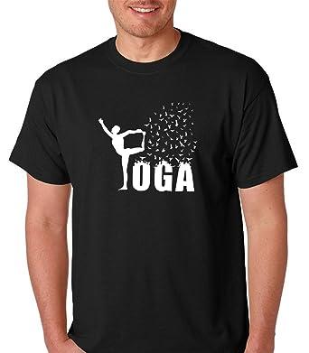58052e81c0 Amazon.com: Yoga Relaxing Beach - Namaste - 100% Cotton Soft Style Quality Premium  Men T-Shirt: Clothing