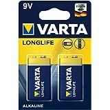 Varta Piles Alcalines 9V longue durée–Lot de 2