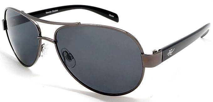 4c782dee223 Unisex Polarized Retro Aviator Sunglasses - Nickel Plated Metal Frame Samba  Shades
