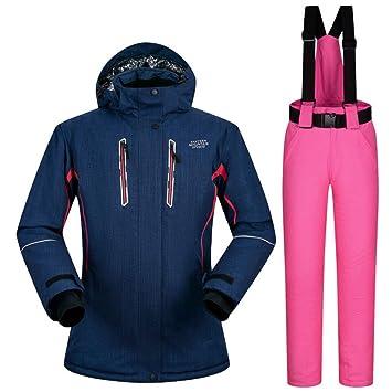 BSSDG Traje de Nieve Traje de esquí Mujer Invierno Deportes al ...