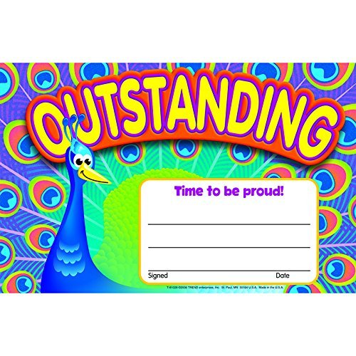 Trend Outstanding-Peacock Certificates by TREND ENTERPRISES INC.