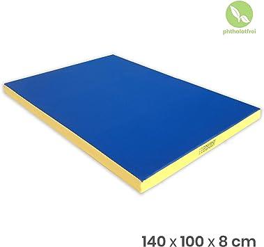 NiroSport colchoneta 140 x 100 x 8 cm – Esterilla de Deporte Fitness Esterilla colchoneta Alfombrilla Yoga Suelo Esterilla, Color Azul