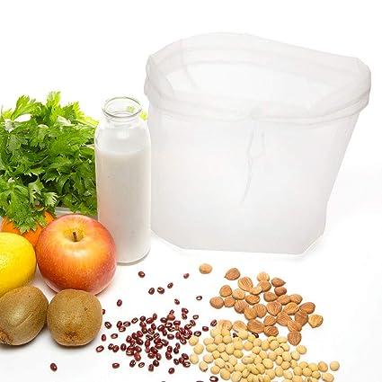 PREMYO - 2 Bolsas de Leche de Frutos Secos de Malla Fina, paño de Filtro, jabón, paño de pasapurés, cordón, preparación de zumos de Verduras, ...