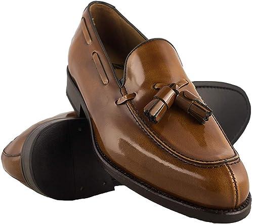 Zerimar Zapatos Castellanos Hombre | Mocasin Antifaz Hombre | Mocasin con Borlas para Hombre | Mocasin Piel Hombre | Fabricados en España: Amazon.es: Zapatos y complementos