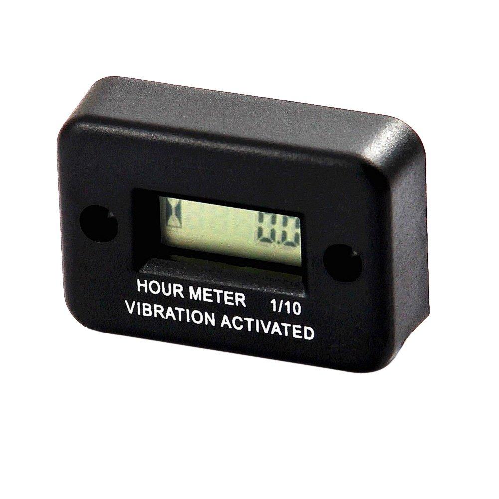 KKmoon Zeitmesser Auto Vibration Betriebsstundenz/ähler f/ür Motorrad ATV Schneemobil Boot Wasserdicht