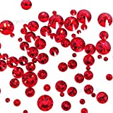 LIGHT SIAM (227) red 144 pcs Swarovski 2058/2088 Crystal Flatbacks red rhinestones nail art mixed with Sizes ss5, ss7, ss9, ss12, ss16, ss20, ss30 **FREE Shipping from Mychobos (Crystal-Wholesale)**