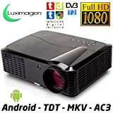 Proyector de Alta definicion FULLHD, Android, WiFi, TV TDT, AC3, LED, Compatible con PS4, Nintendo Switch, Xbox One (HD, con Android y TDT)