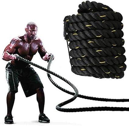 Cuerda blanda Cuerda blanda negra Cuerda de algodón de 3 M / 9.8 pies Cuerda artesanal de 38 mm Cuerda gruesa de poliéster de alta resistencia (Size : 38mm x 12m): Amazon.es: Instrumentos musicales
