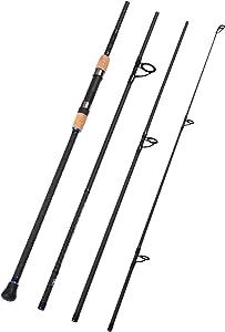 Fiblink 4-Piece Surf Spinning & Casting Fishing Rod Portable Carbon Fiber Travel Fishing Rod(10-Feet & 11-Feet & 12- Feet & 13-Feet & 15- Feet)
