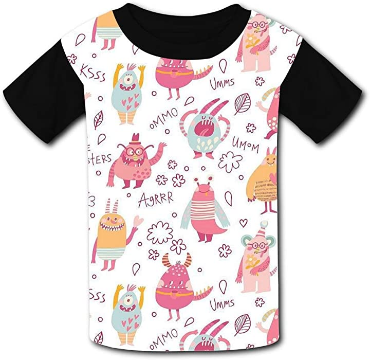 477bb742c Amazon.com: Fashion Cute Monsters Kids Tee T-Shirt 3D Prints Costume XS:  Clothing