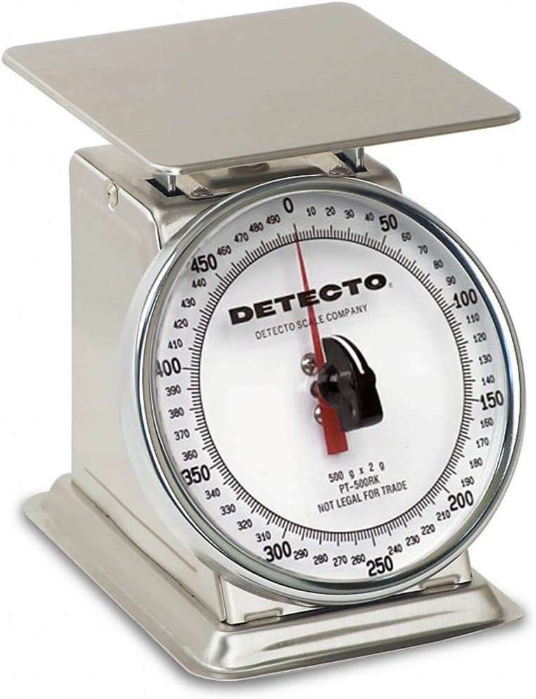 Detecto Top Loading Food Portion Scale Stainless Steel Finish, 500 Grams