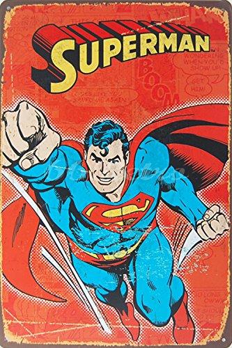 (Superman 2, Metal Tin Sign, Size 8