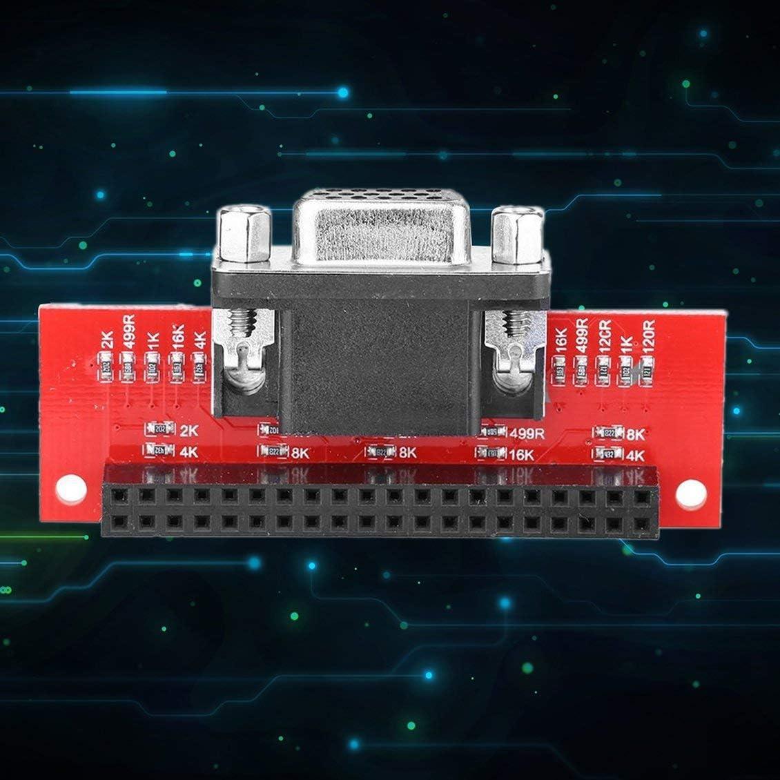 Pgige Raspberry Pi 3 G/én/ération 2 G/én/ération B Type Module Vga666 Version /étendue Adaptateur Gert-Vga Adaptateur Passif Multicolore